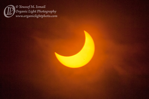 Crescent Sun Ecplisped by the Moon