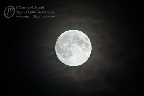 Ramadan Full Moon and Cloud Glow